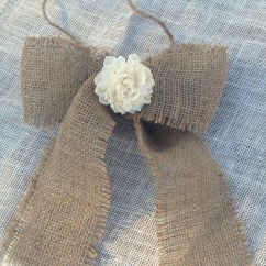Burlap Bows For Wedding Chairs Caper Stacking Chair Sola Flower Bow Shabby Chic Rustic By Countrybarnbabe