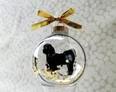 Dog Silhouette Ornament Globe / Shih Tsu / Short Cut - silhouettesbylena