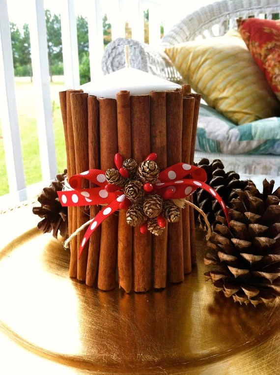 Items similar to Fresh Cinnamon Stick Candle  Holiday