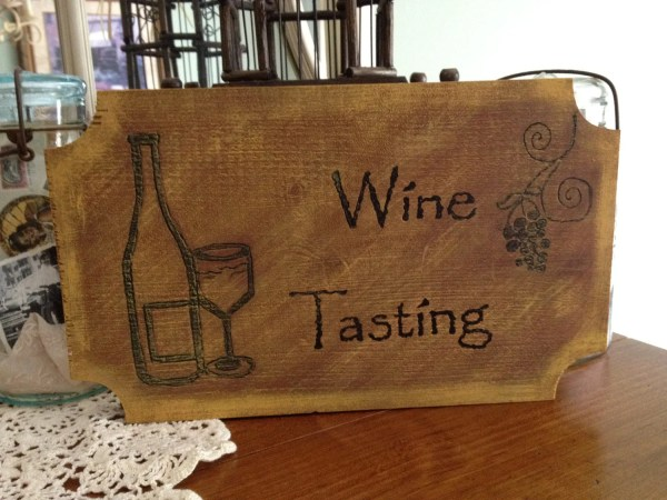 Wine Tasting Wood Sign Tuscan-themed