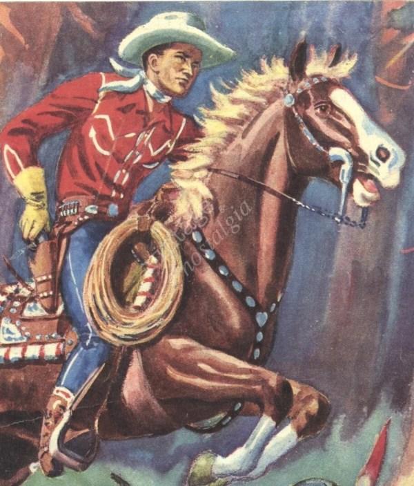 Vintage Cowboy Print Western Decor Wild West Cowboys