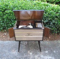 RESERVED Vintage Record Player Stereo Console Mid Century