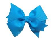 island blue hair bow