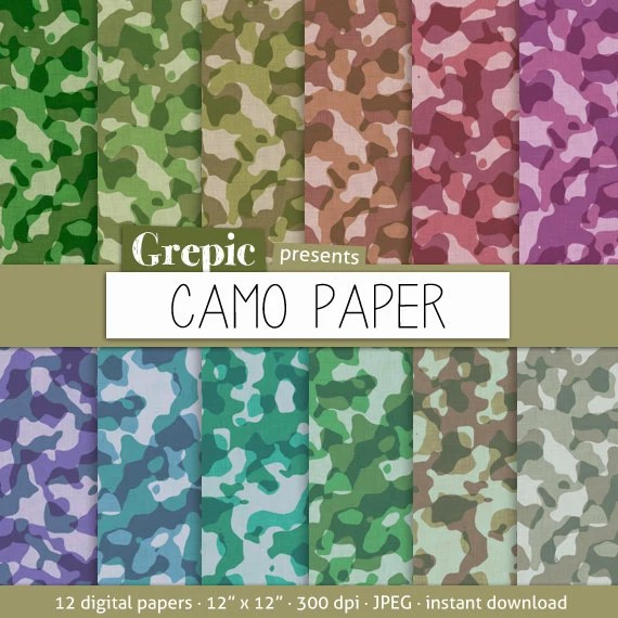 Camouflage Digital Paper Camo Paper With Camouflage Patterned