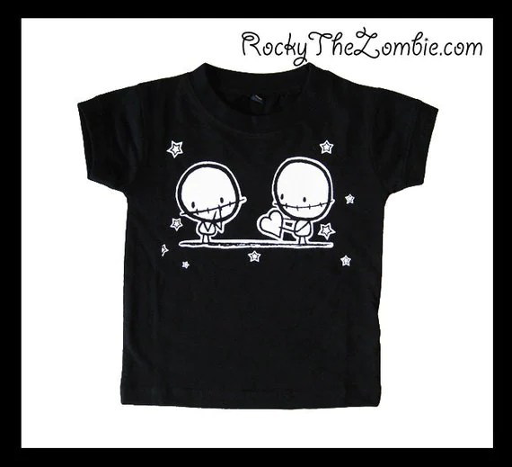 Baby Zombie Lovers Cool Punk  black t-shirt Alternative Rock Goth