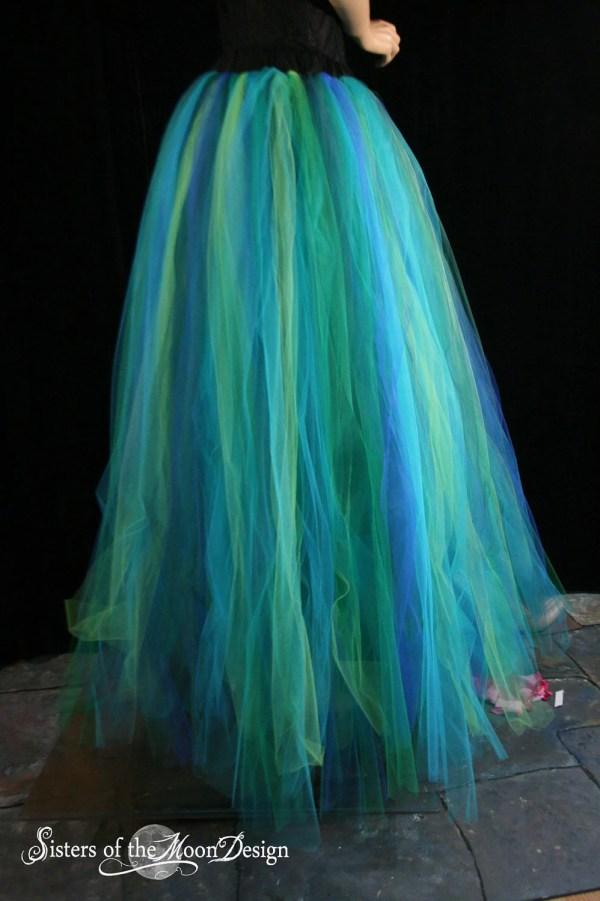 Adult Tutu Skirt Streamer Floor Length Formal Bridal Mermaid