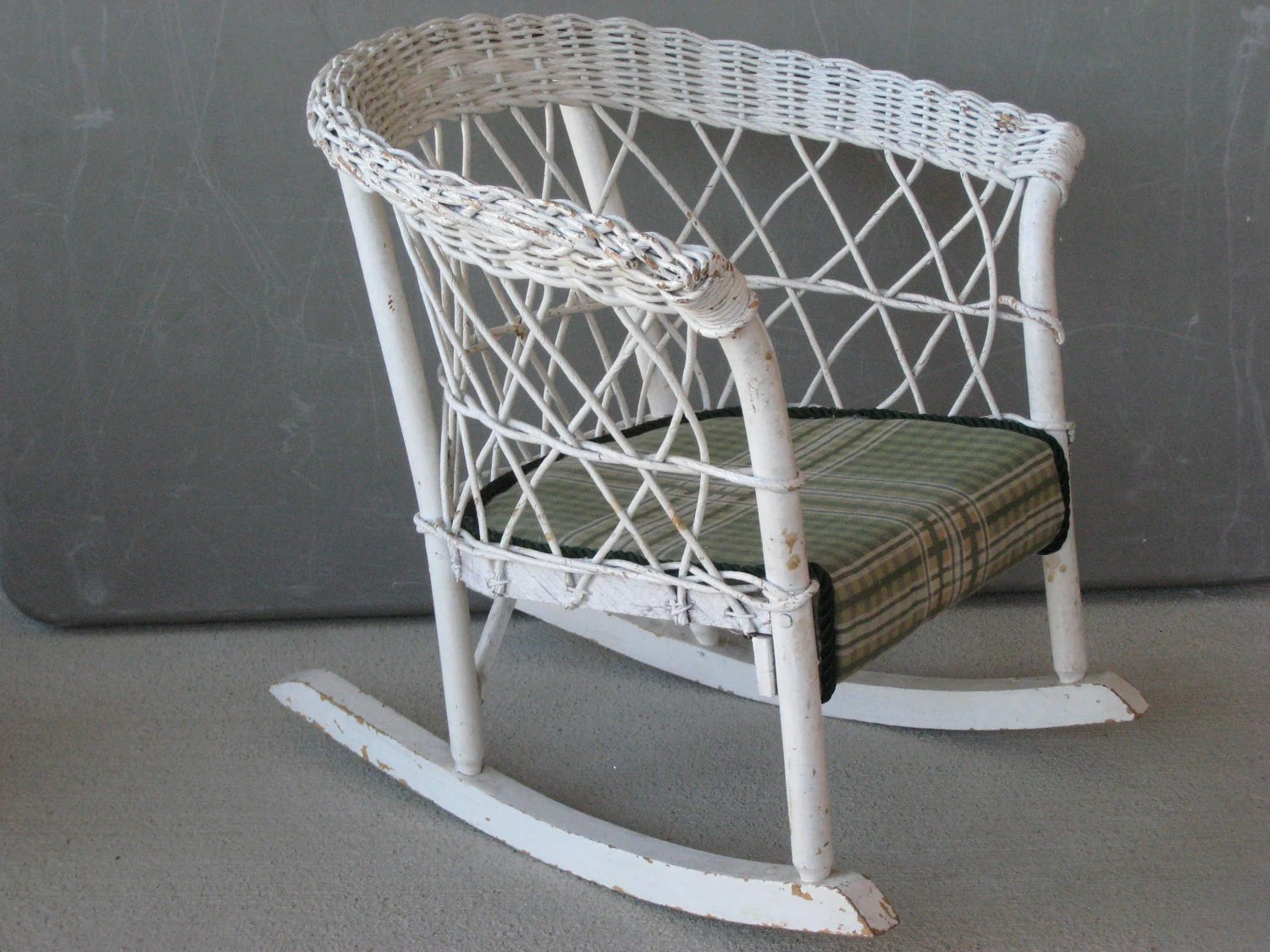 White Wicker Rocking Chair Antique Wicker Rocker Rocking Chair Child Size 0218 W