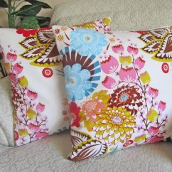 Bright Colored Sofa Covers Craigslist Sacramento Sectional Floral Couch Cushion Cover Decorative Throw Pillow