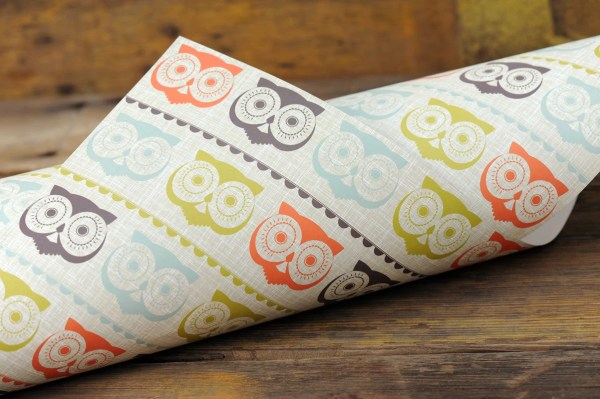 Owl Gift Wrap Paper