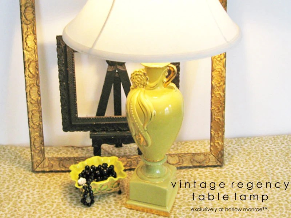 Vintage TABLE LAMP Hollywood Regency By Harlowmonroevintage