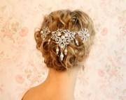 crystal veil wedding hair