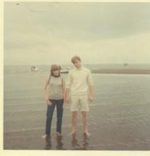 1960s Mod Couple Beach Barefoot Water Teen Boy Girl 60s