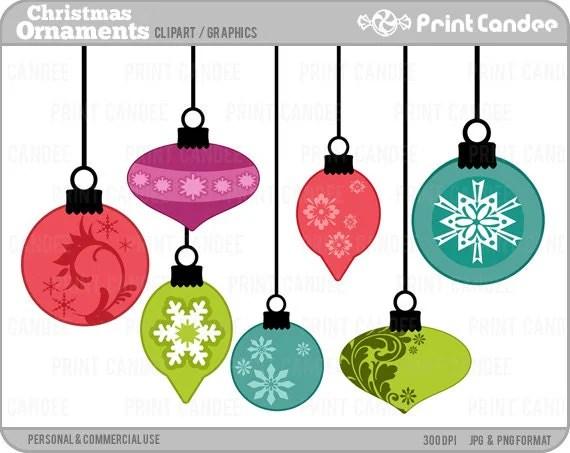 70% OFF SALE Christmas Ornaments Digital Clip Art