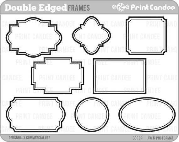 Double-Edge Frames Personal and Commercial Use digital