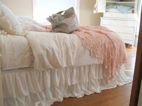 Romantic Tiered Ruffle Dust Bed Skirt King Size