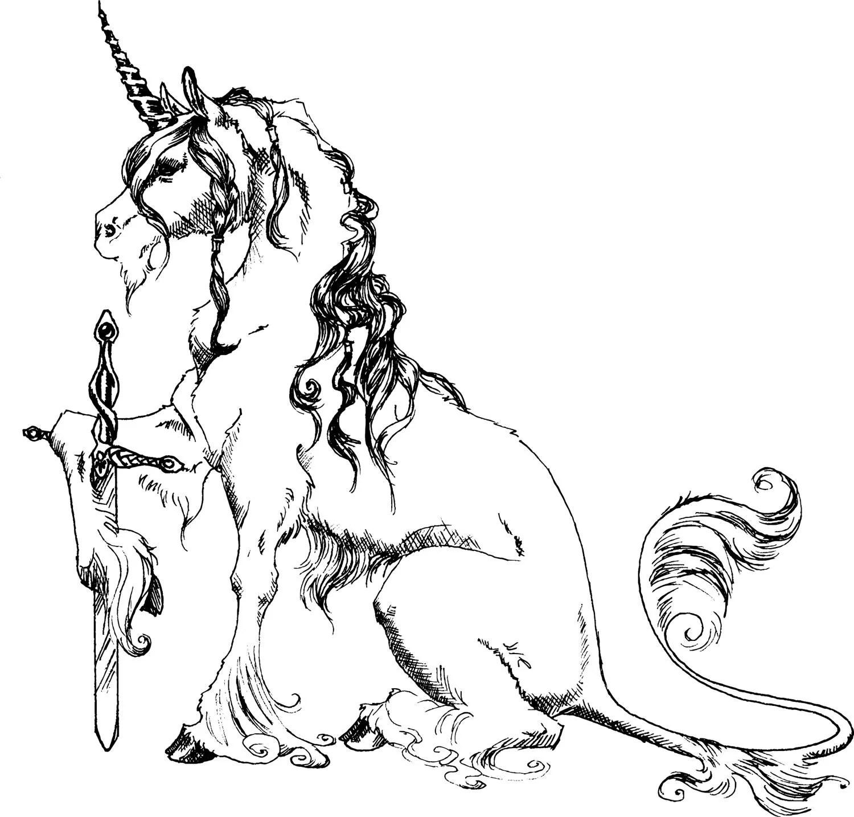 Items Similar To Unicorn With Sword Clip Art Printable