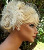 fascinator birdcage bridal veil