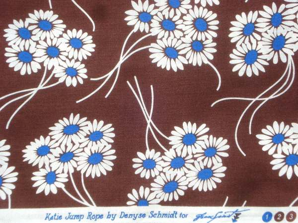 Katie Jump Rope Denyse Schmidt Daisy Bouquet Brown Fq