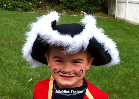 Deluxe Captain's Pirate Hat for kids - KiddieWinkDesigns