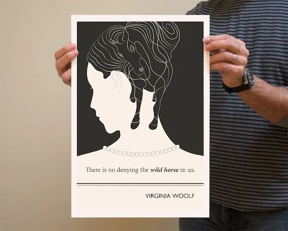 Original Illustration, Virginia Woolf quotation - Fine Art Prints - Art Posters - Literature inspired art - Dorm decor