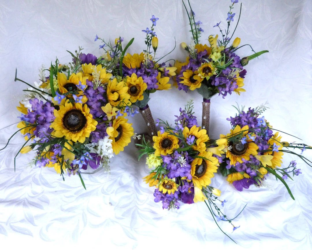 Reserved Sunflower Wedding Country Wedding Sunflower Bouquet