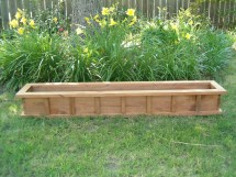 Window Box Cypress Wooden Planter Flower Wood