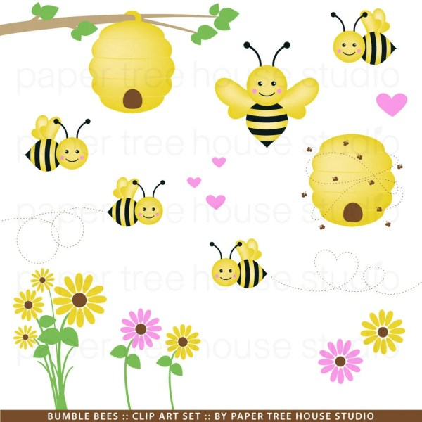 bumble bee clip art. honey