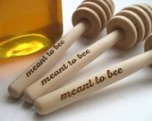 HONEY Dipper Wedding Favor  - Meant To Bee Engraved Honey Dipper - Set of 60 - clarkewoodworks