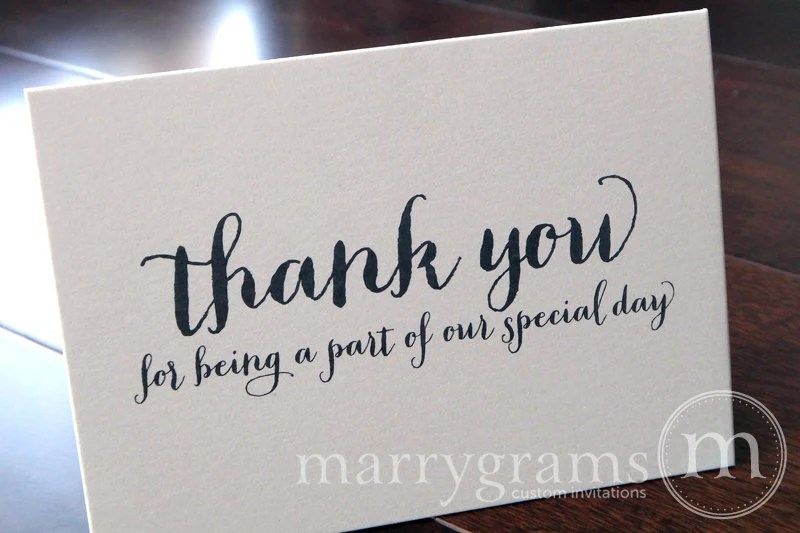 Wedding Thank You Note Card Set Misc Thank You For Being A