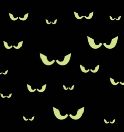 16 spooky eyes glow in the dark removable wall decal free scary tree drawings halloween moon clip art [ 1500 x 1305 Pixel ]