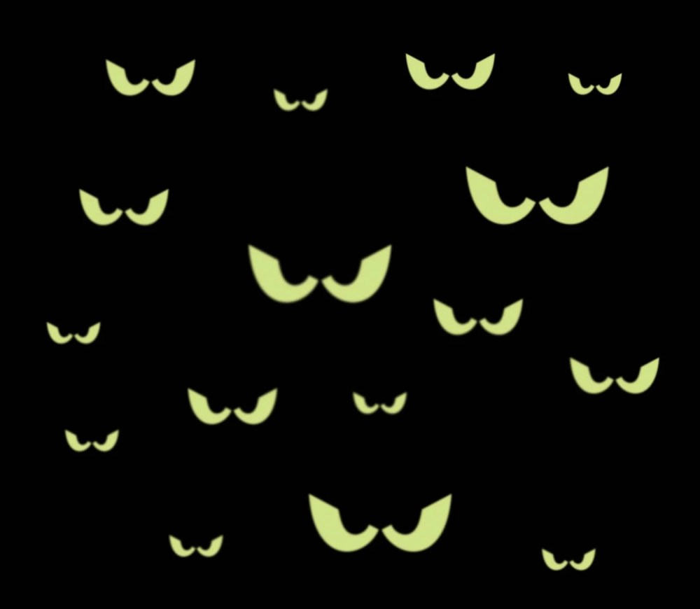 medium resolution of 16 spooky eyes glow in the dark removable wall decal free scary tree drawings halloween moon clip art