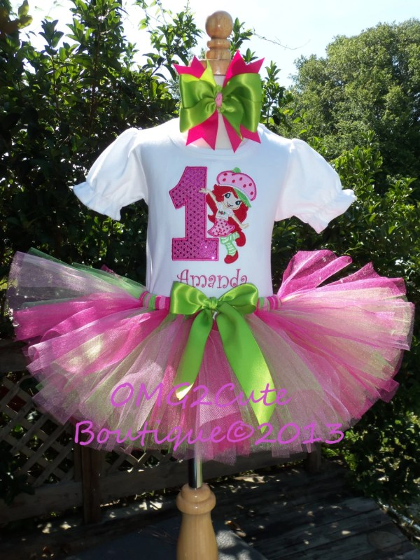 Strawberry Shortcake Birthday Tutu Outfit Includes Shirt