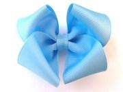 light blue hair bow robins egg