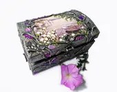 Hand decorated silver jewelry box. - flowerdeco