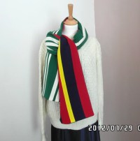 Vintage long wool college scarf. University of Wales