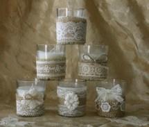 Burlap And Lace Wedding Votives Tea Bannerbanquet