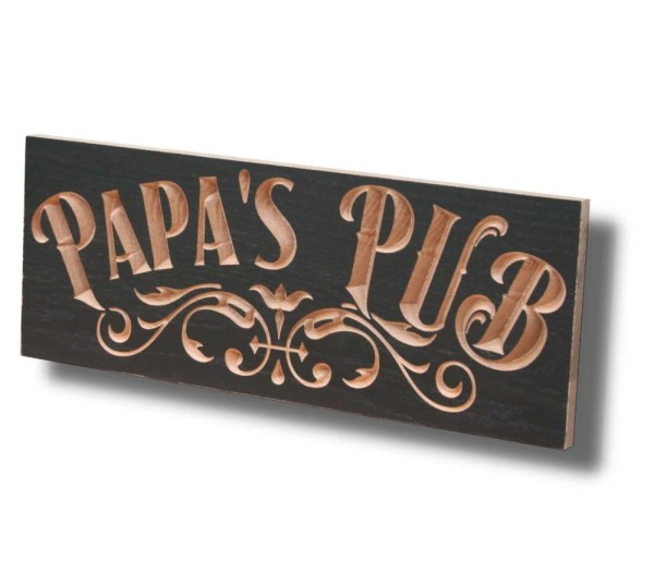 Personalized Pub Sign Carved Wooden Signs Brewery