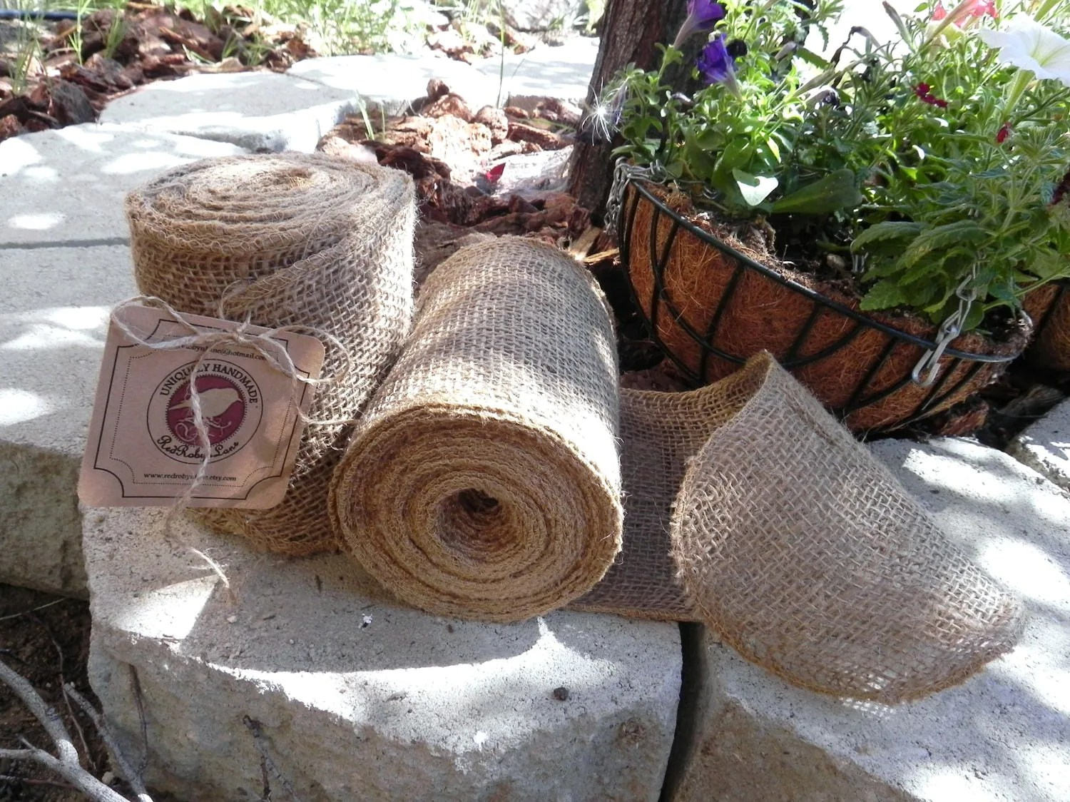 burlap chair sashes canada baby walmart garland 10 yards 30 feet continuous