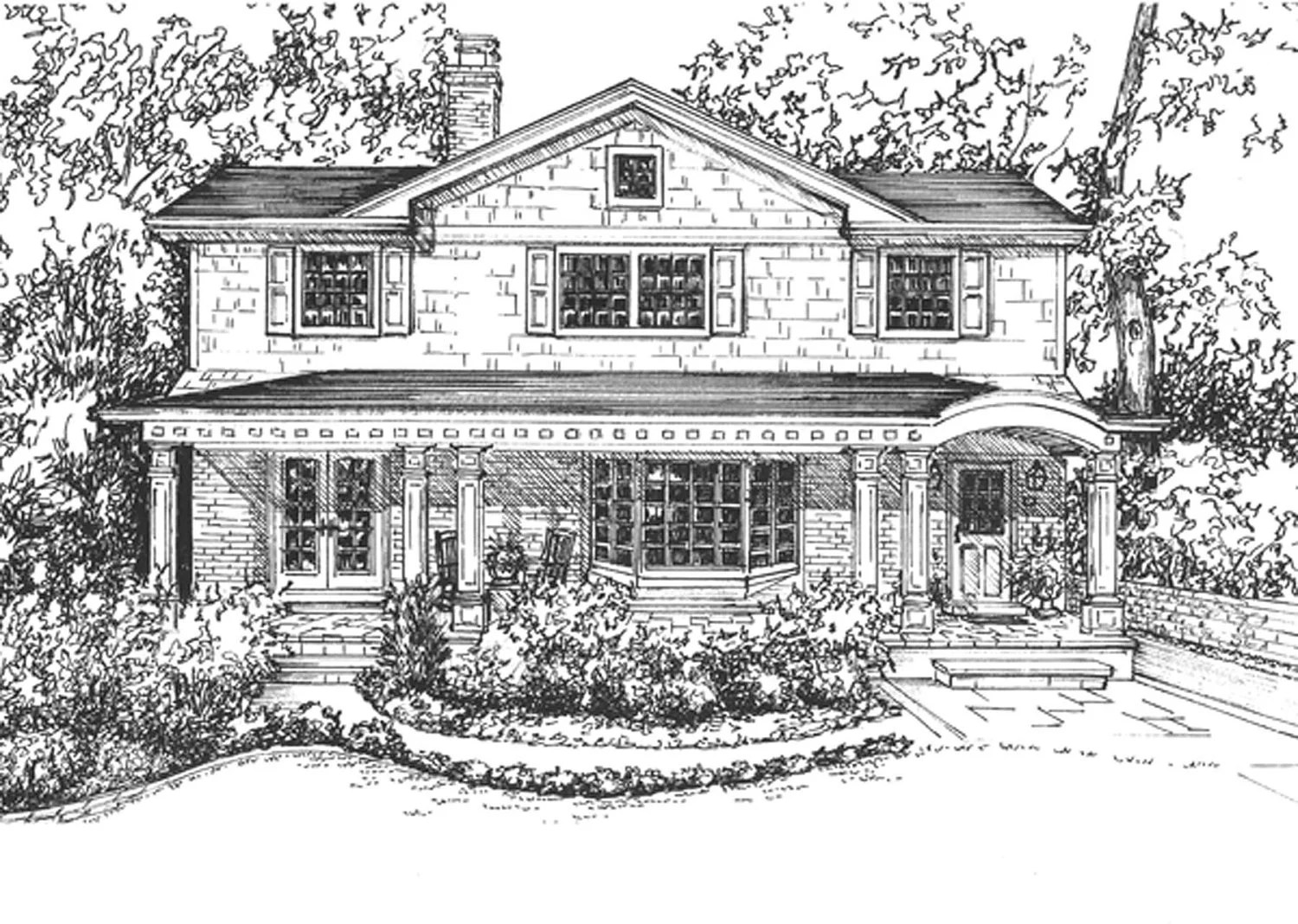 draw diagram for homes east coast swing steps house rendering hand drawn in ink home custom