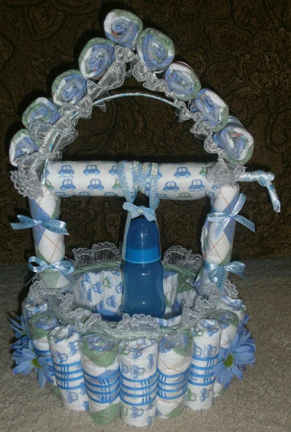 Items similar to Wishing Well Diaper Cake on Etsy