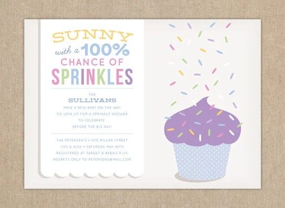 Baby Shower Invitation  Sprinkle Shower by LauraBolterPaper