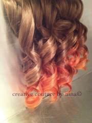 dip dye brunette and copper