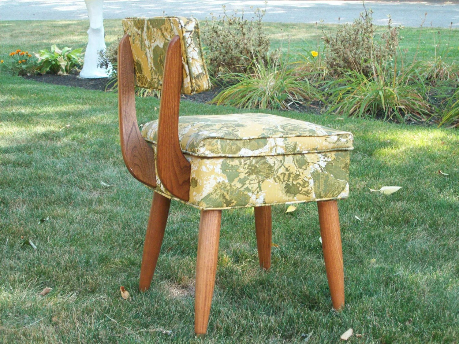 antique sewing chair double camping with table vintage machine storage