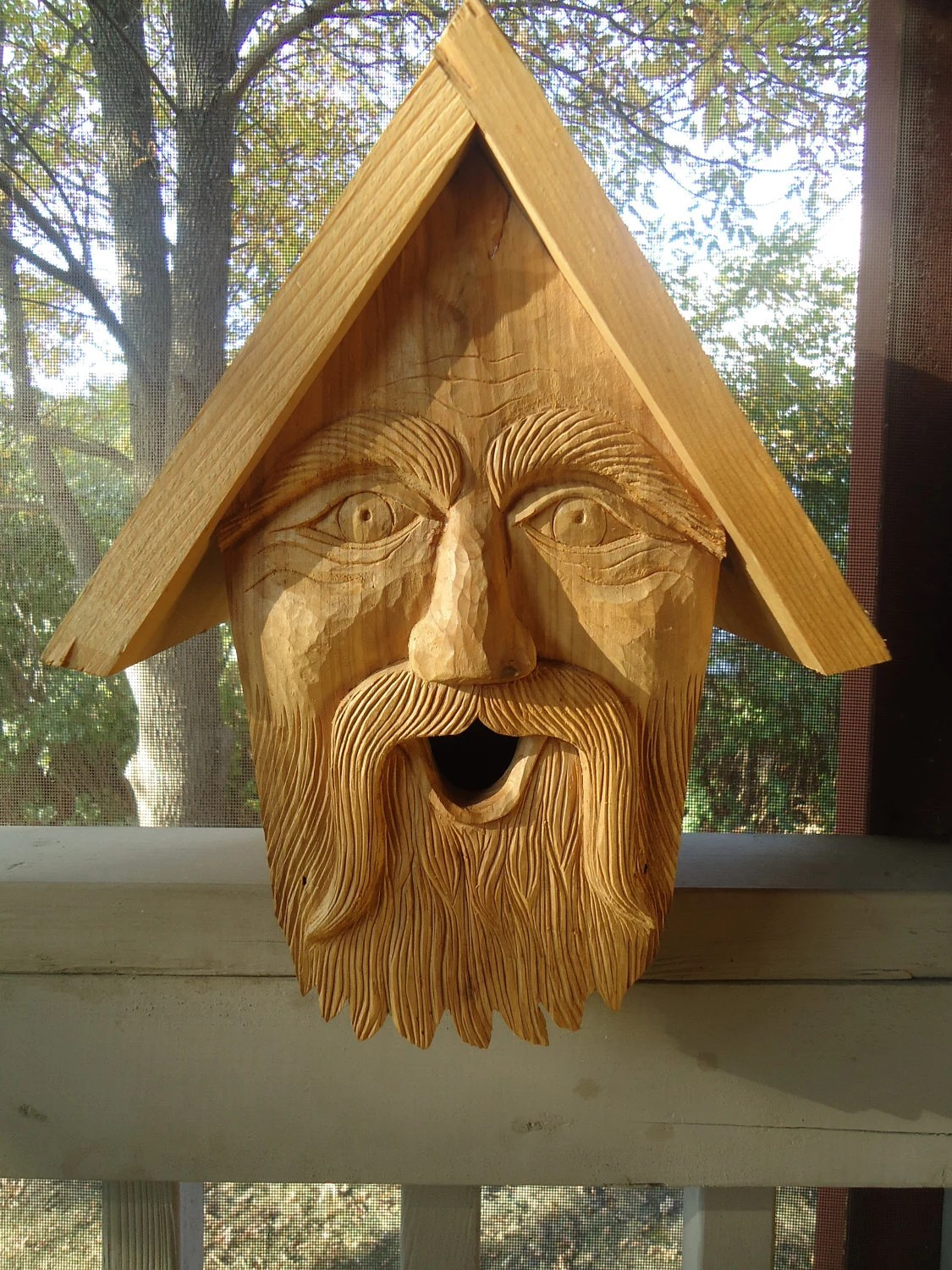 Hand made cedar birdhouse perfect for indoor or outdoor use