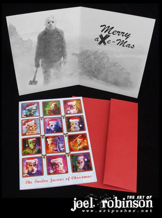 Jason Voorhees Friday The 13th Christmas Cards
