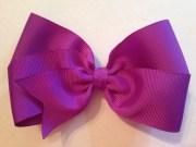 5 purple hair bow