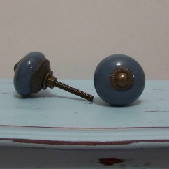 Blue Kitchen Cabinet Knobs How To Protect Hardwood Floors In Dresser Ceramic Drawer Pulls 1 Knob