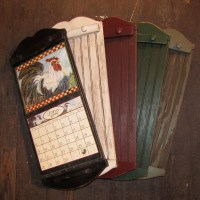 Rustic Style Calendar Holder Color Choice