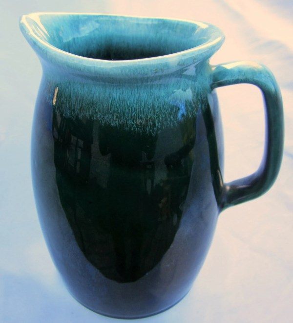 Hull Usa Green Agate Art Pottery Pitcher Vintage Rare