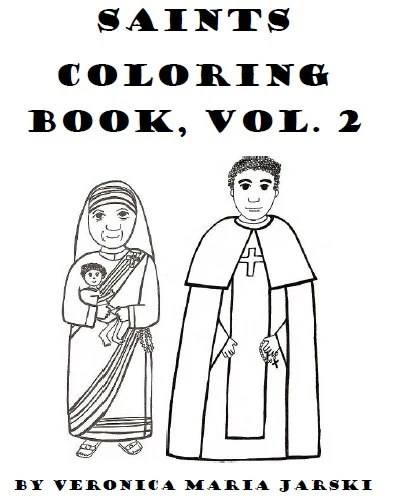 Catholic Saints Coloring Book Vol. 2 by paperdali on Etsy